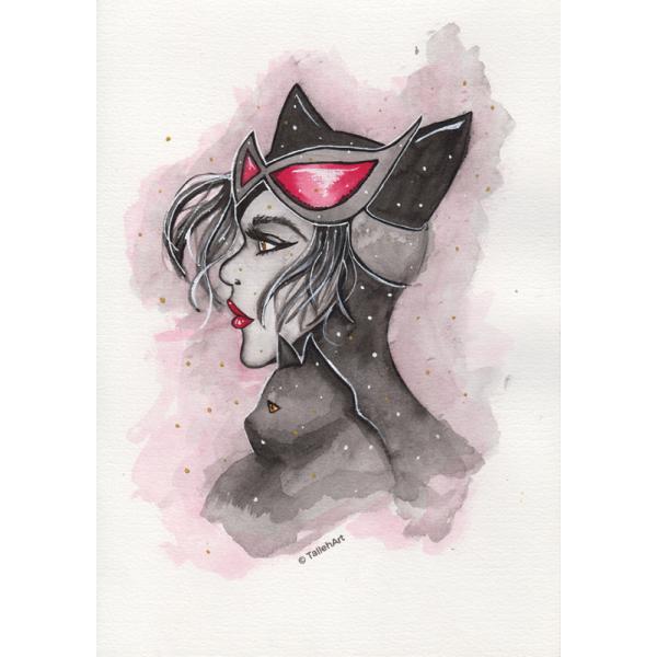 Catwoman Print - A4/A6