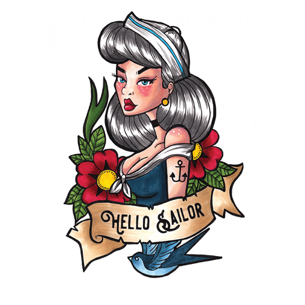 Giclee Hello Sailor Print - A4
