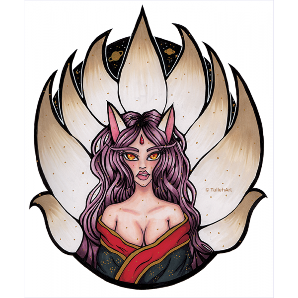 Goddess Kitsune Print - A4/A6