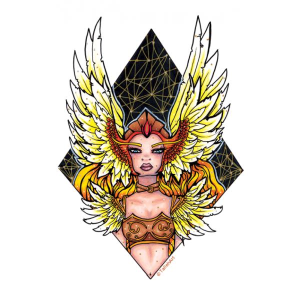 Goddess Valkyrie Print - A4/A6