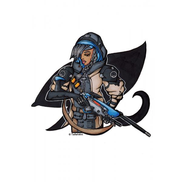 Overwatch Ana Print - A4/A6