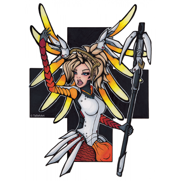 Overwatch Mercy Print - A4/A6