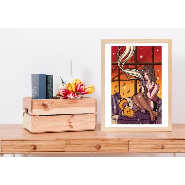 Giclee Autumn Coffee Print - A4