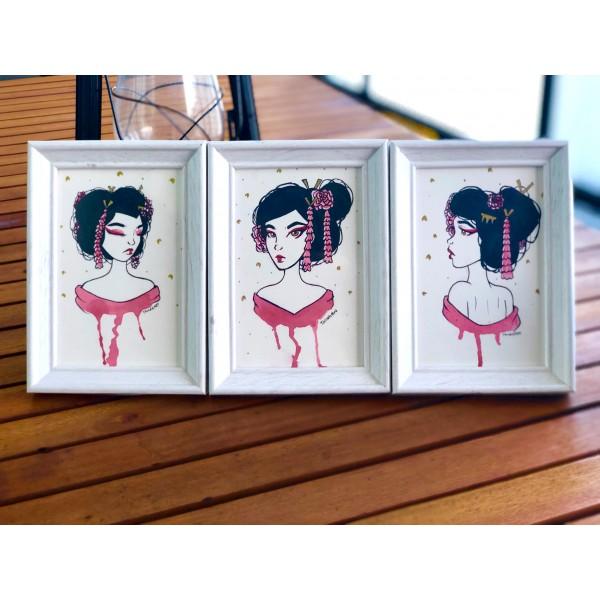 Original Geisha set (framed) - A6