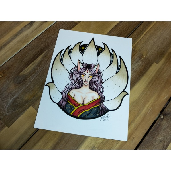 Original Goddess Kitsune - A4
