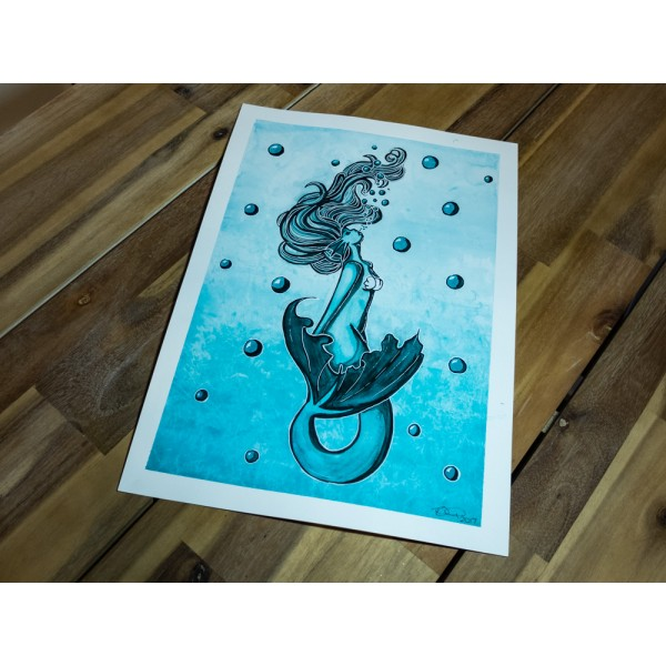Original Mermaid - A3