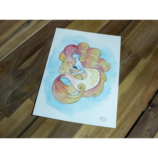Original Mermaid Sunset - A4