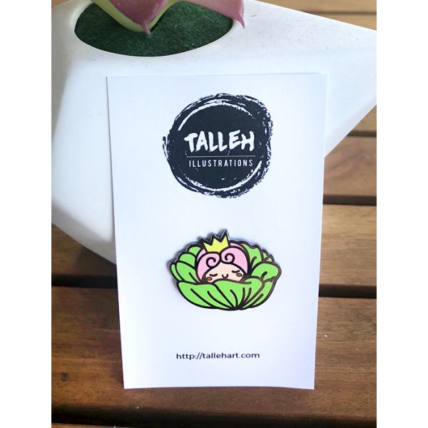 Enamel Pin Floral Cabbage
