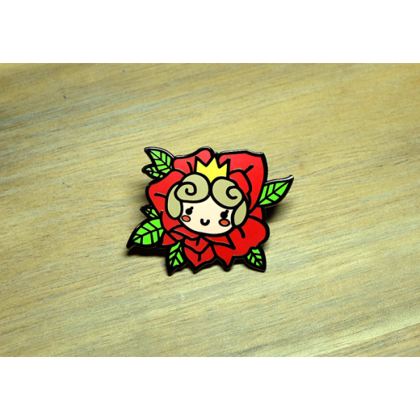 Enamel Pin Floral Rose