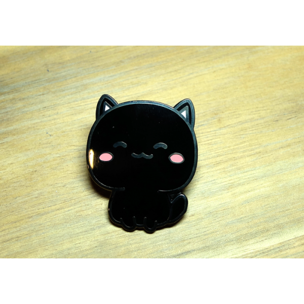 Enamel Pin Kitty Black