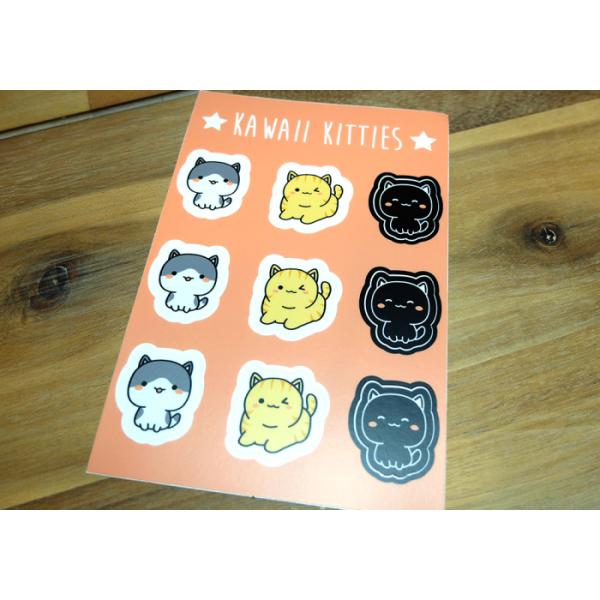 Sticker Sheet Kawaii Kitties