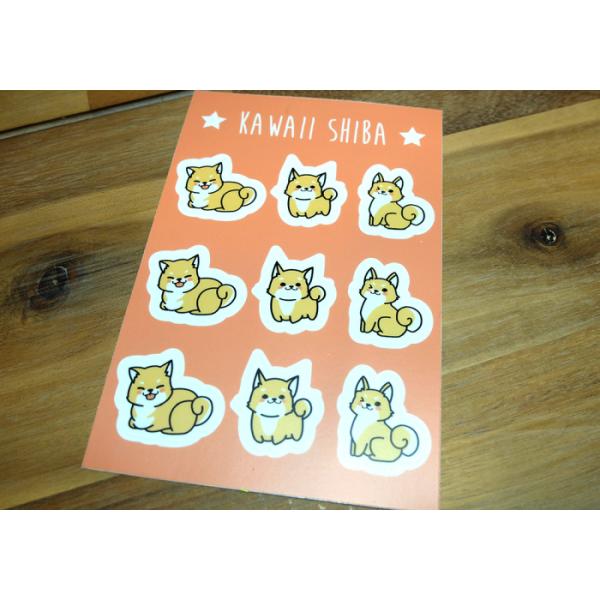 Sticker Sheet Kawaii Shiba